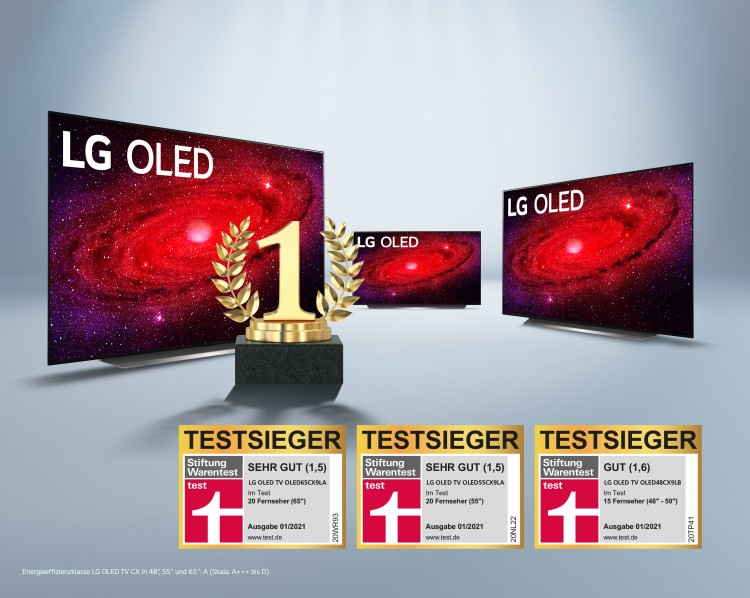 ERNEUTER TRIUMPH FÜR LG: DIE STIFTUNG WARENTEST PRÄMIERT LG OLED TVS IM  GROSSEN VERGLEICH | Das Presse-Portal von LG – LG Presselounge